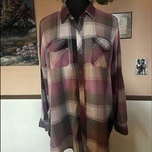 Arizona plaid blouse
